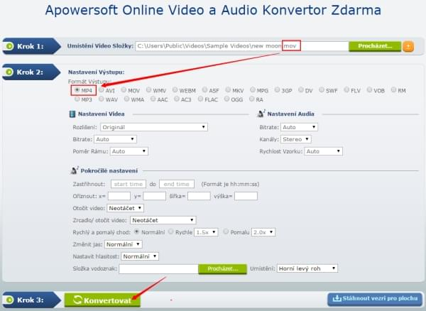 Online Video a Audio Konvertor