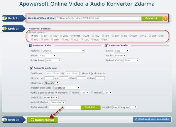 Video a Audio Konvertor Zdarma